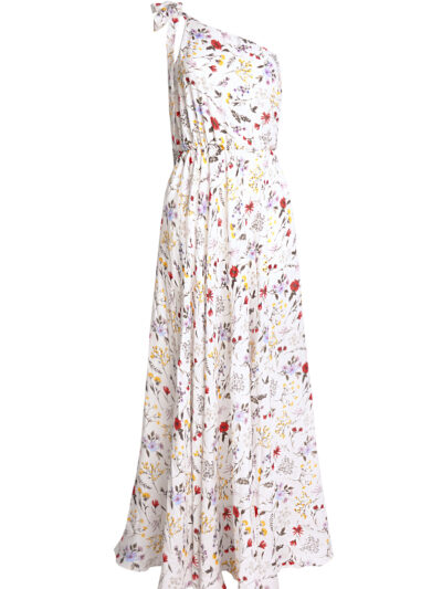Milidiami White one shoulder maxi dress