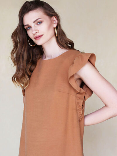 milidiami cinnamon dress with frills