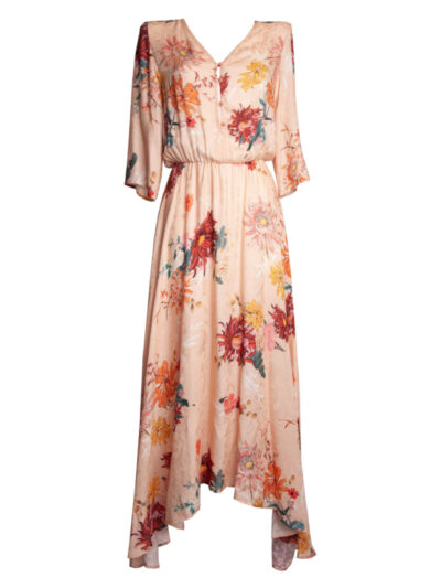 Milidiami Floral viscose dress with sleeves