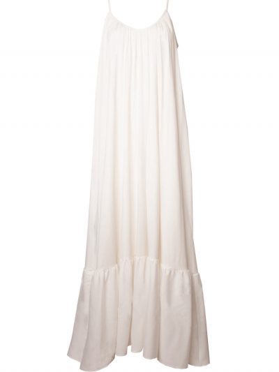 Long boho white dress packshot