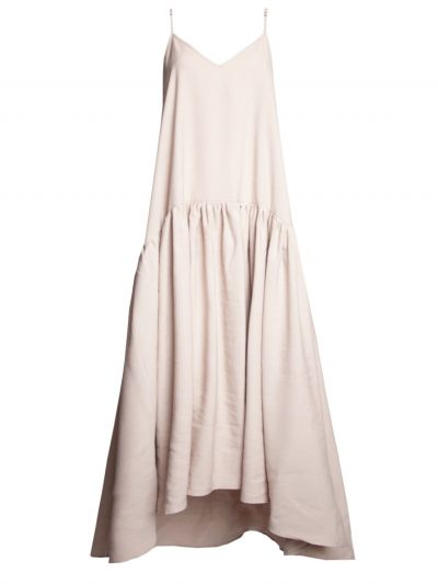 Beige dress with frill packshot
